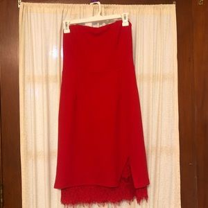 Red Strapless Lulus Dress NWT